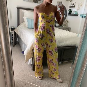 Floral Jumpsuit with Pockets